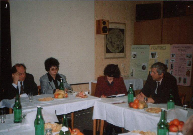 Návšteva ministra kultúry SR Ivana Hudeca (marec 1997), zatiaľ jediná