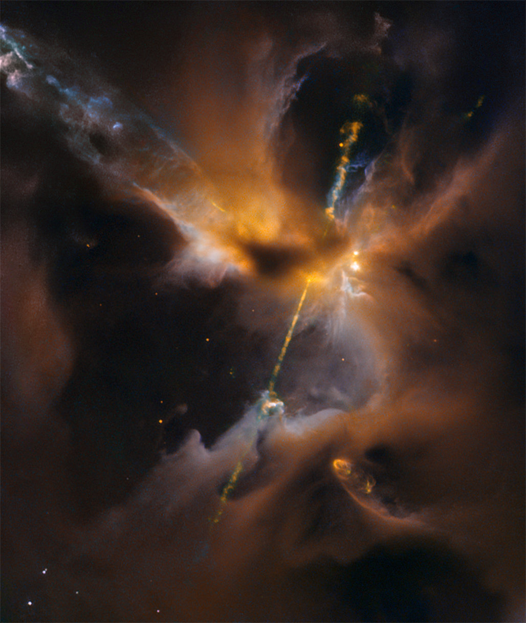 Image Credit: NASA, ESA, Hubble Heritage (STScI / AURA) / Hubble-Europe Collaboration  Acknowledgment: D. Padgett (GSFC), T. Megeath (University of Toledo), B. Reipurth (University of Hawaii)